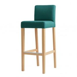 Tyrkysová barová stolička s prírodnými nohami Custom Form Wilton