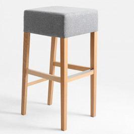 Svetlosivá barová stolička s prírodnými nohami Custom Form Poter