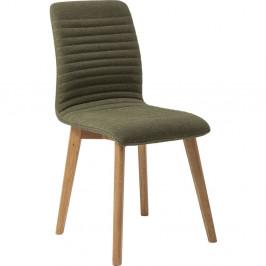 Sada 2 tmavozelených jedálenských stoličiek Kare Design Lara