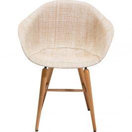 Sada 4 béžových jedálenských stoličiek Kare Design Forum Armrest