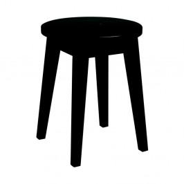 Čierna nízka dubová stolička Folke Frigg