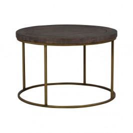 Hnedý drevený konferenčný stolík Folke Lato