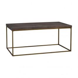 Hnedý drevený konferenčný stolík Rowico Brogge