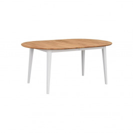 Oválny dubový rozkladací jedálenský stôl s bielymi nohami Folke Mimi, dĺžka až 210 cm