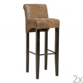 Sada 2 barových stoličiek s podnožou z bukového dreva Kare Design Vintage