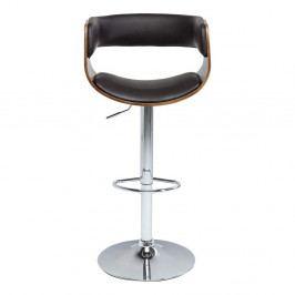 Tmavohnedá barová stolička Kare Design Costa