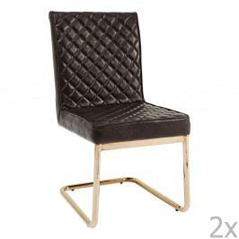 Sada 2 tmavohnedých stoličiek Kare Design Beverly Hills