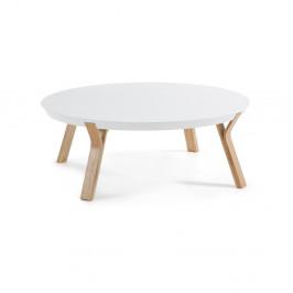 Biely konferenčný stolík La Forma Solid, Ø 90cm