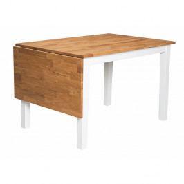 Biely jedálenský stôl z masívneho dubového dreva Folke Finnus, 120×80 cm
