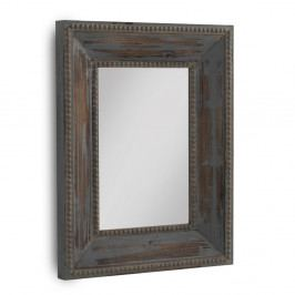 Hnedé nástenné zrkadlo Geese, 90×70 cm