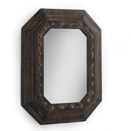 Hnedé nástenné zrkadlo Geese, 70×90 cm