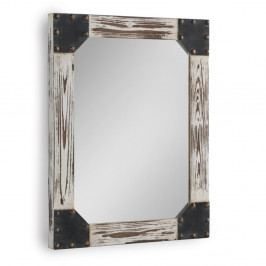 Biele nástenné zrkadlo Geese Washed, 57×70 cm