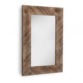 Hnedé nástenné zrkadlo Geese, 80×121 cm