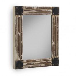 Hnedé nástenné zrkadlo Geese, 60×70 cm