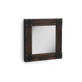Hnedé nástenné zrkadlo Geese, 57×57 cm