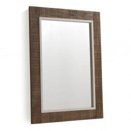 Hnedé nástenné zrkadlo Geese Rustic, 60 x 80 cm