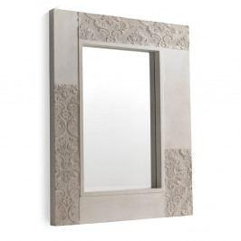 Biele nástenné zrkadlo Geese Pattern, 100 x 80 cm