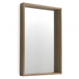 Nástenné zrkadlo z dreva paulovnia Geese Pure, 60×90 cm