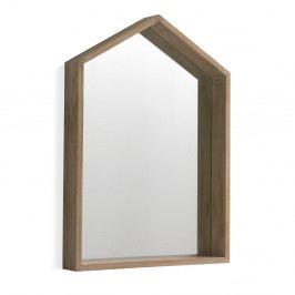 Nástenné zrkadlo z dreva paulovnie Geese Pure, 60×82 cm