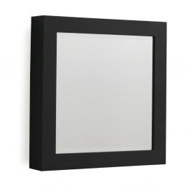 Čierne nástenné zrkadlo Geese Thick, 40×40 cm