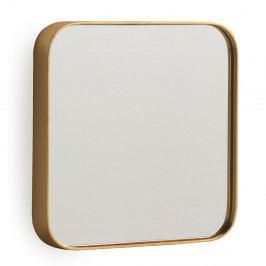 Nástenné zrkadlo v zlatej farbe Geese Pure, 50 x 50 cm