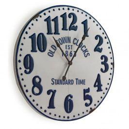 Biele nástenné hodiny Geese Standard,Ø90 cm