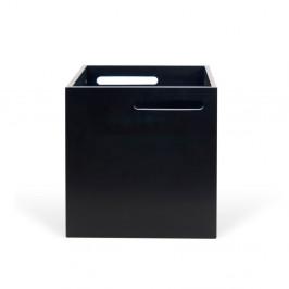 Čierny úložný box ku knižniciam TemaHome Berlin