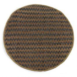 Modro-hnedý koberec Geese Mumbai, Ø 180 cm