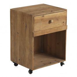 Nočný stolík na kolieskach so zásuvkou Geese Talinn