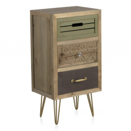 Nočný stolík s 3 zásuvkami Geese Lisboa