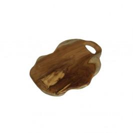 Doska na krájanie z teakového dreva HSM Collection Flate S, dĺžka 30 cm