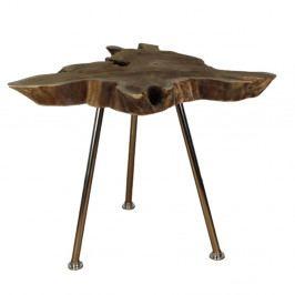 Odkladací stolík z teakového dreva HSM Collection Tribe, 50 x 50 cm