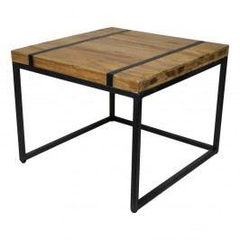 Odkladací stolík s doskou z teakového dreva HSM collection Bridge, šírka 80 cm