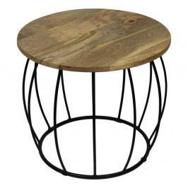 Odkladací stolík z mangového dreva HSM Collection Crown, ⌀ 40 cm