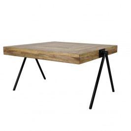Odkladací stolík s doskou z mangového dreva HSM collection Síchon, dĺžka 80 cm