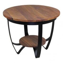 Konferenčný stolík s doskou z recyklovaného teakového dreva HSM Collection Susan, ⌀ 55 cm