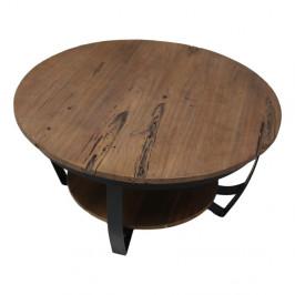 Konferenčný stolík s doskou z recyklovaného teakového dreva HSM Collection Susan, ⌀ 85 cm