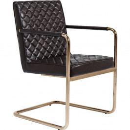 Sada 2 čiernych stoličiek Kare Design Cantilever