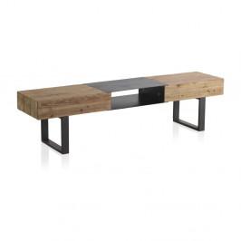 Drevený TV stolík s kovovými nohami Geese Robust, 180 x 40 cm