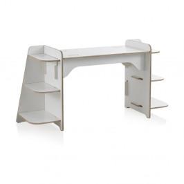 Biely detský písací stôl z preglejky Geese