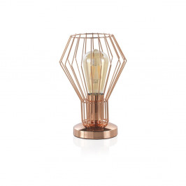 Kovová stolová lampa v medenej farbe Geese, výška 25 cm