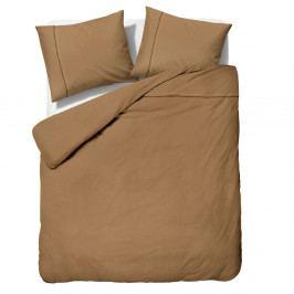 Hnedé obliečky z mikroperkálu na dvojlôžko Sleeptime Monte Carlo, 200×200cm