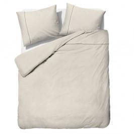 Krémové obliečky z mikroperkálu na dvojlôžko Sleeptime Monte Carlo, 200×200cm