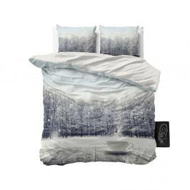 Obliečky z mikroperkálu Sleeptime Winter Coffee, 160×200 cm