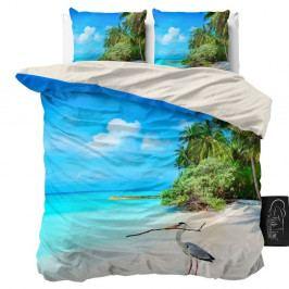 Obliečky z mikroperkálu na dvojlôžko Sleeptime Beach, 160×200 cm