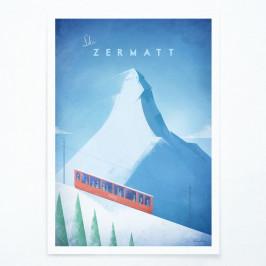 Plagát Travelposter Zermatt, A2