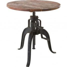Stolík s doskou z recyklovaného dreva Kare Design Bistro, Ø 75 cm