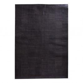 Tmavohnedý koberec z pravej kože Fuhrhome Rabat, 170×240cm