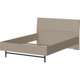 Sivá dvojlôžková posteľ Germania Monteo, 140×200 cm