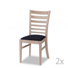 Sada 2 dubových stoličiek Furnhouse Jannie